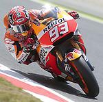 12.06.2015 Montmelo. GP Monster Energy de Cataluña. Entrenos libres nr2. En la foto Marc Marquez Repsol Honda Team