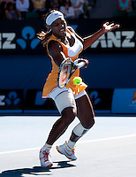 Serena Williams (USA) (1) against Victoria Azarenka (BLR) (7) in the Quarter Finals of the Womens Singles. Williams beat Azarenka 6-4 7-6 6-2..International Tennis - Australian Open Tennis -  Wednesday 27th  Jan 2010 - Melbourne Park - Melbourne - Australia ..© Frey - AMN Images, 1st Floor, Barry House, 20-22 Worple Road, London, SW19 4DH.Tel - +44 20 8947 0100.mfrey@advantagemedianet.com