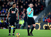 9th December 2017, Selhurst Park, London, England; EPL Premier League football, Crystal Palace versus Bournemouth; Referee Kevin Friend blows for a free kick, as Jordon Ibe of Bournemouth prepares to take it