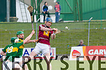 In Action Westmeath's Tommy Doyle and Kerry's Mikey Boyle and Daniel Collins at the Kerry v Westmeath at Austin Stack Park on Sunday