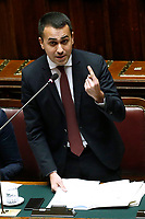 Luigi Di Maio<br /> Rome February 13th 2019. Lower Chamber. Ministers of Internal Affairs, of Labour and of Health at the Question Time at the Chamber of Deputies.<br /> Foto Samantha Zucchi Insidefoto