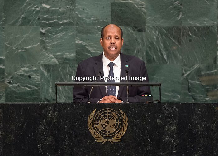72 General Debate – 23rd of September  2017<br /> <br /> H.E. Mahmoud All YOUSSOUF<br /> Minister of Foreign Affairs and<br /> international Cooperation of<br /> DJiBOUTi