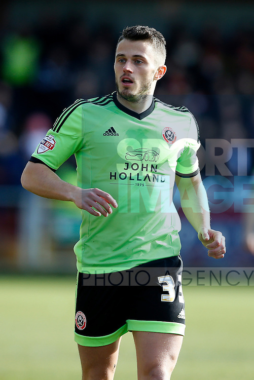 Florent Cuvelier of Sheffield Utd - English League One - Fleetwood Town vs Sheffield Utd - Highbury Stadium - Fleetwood - England - 5rd March 2016 - Picture Simon Bellis/Sportimage