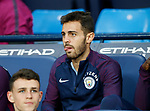 Bernardo Silva of Manchester City starts on the bench during the Premier League match at the Eithad Stadium, Manchester. Picture date 21st August 2017. Picture credit should read: Simon Bellis/Sportimage