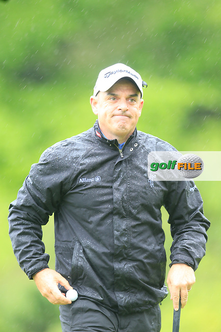 Paul McGinley (IRL) on the 17th green during Thursday's Round 1 of the 2016 Dubai Duty Free Irish Open hosted by Rory Foundation held at the K Club, Straffan, Co.Kildare, Ireland. 19th May 2016.<br /> Picture: Eoin Clarke | Golffile<br /> <br /> <br /> All photos usage must carry mandatory copyright credit (&copy; Golffile | Eoin Clarke)