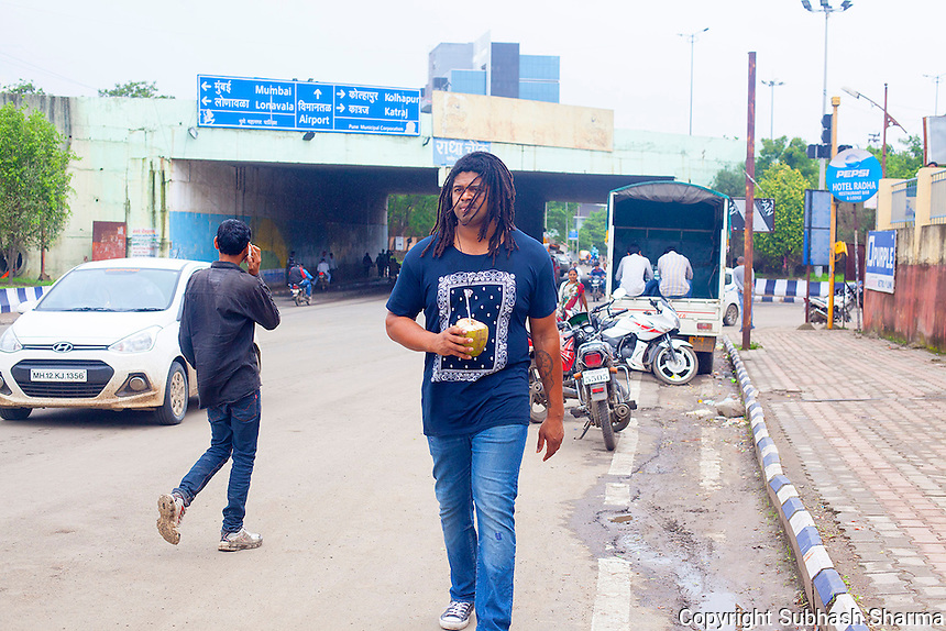 14 July 2016 - Pune - INDIA.<br /> Jamal Idris explores the streets of Pune.<br /> <br /> (Subhash Sharma for the Sunday Telegraph)