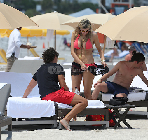 MIAMI, FL - MAY 13: Rita Rusic enjoys a day at the beach in Miami, Florida. May 13, 2013. Mandatory Credit: XIM/KDNPix/MediaPunch Inc. ***FOR USA ONLY***