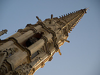Gothic church's tower in Barcelona.