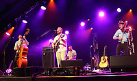 Gordie McKeeman &amp; his Rhythm Boys performs at the Cambridge Folk Festival 2018, Cherry Hinton Hall, Cambridge, England, UK on 3rd and 4th August 2018.<br /> CAP/ROS<br /> &copy;ROS/Capital Pictures