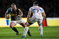 Harlequins' Joe Marler in action during todays match<br /> <br /> Photographer Bob Bradford/CameraSport<br /> <br /> Aviva Premiership Round 20 - Harlequins v Exeter Chiefs - Friday 14th April 2017 - The Stoop - London<br /> <br /> World Copyright &copy; 2017 CameraSport. All rights reserved. 43 Linden Ave. Countesthorpe. Leicester. England. LE8 5PG - Tel: +44 (0) 116 277 4147 - admin@camerasport.com - www.camerasport.com