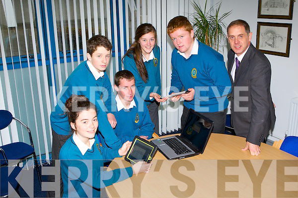 COMPUTING CONTEST: The students of Mercy Mounthawk secondary school who will compete in the International Beaver computing contest next Tuesday l-r: Caoimhe Barry-Walsh, Patrick Slattery, Sean Dowling, Ciara Holmes, Conor O Nuallain and Pat Fleming (deputy principal).