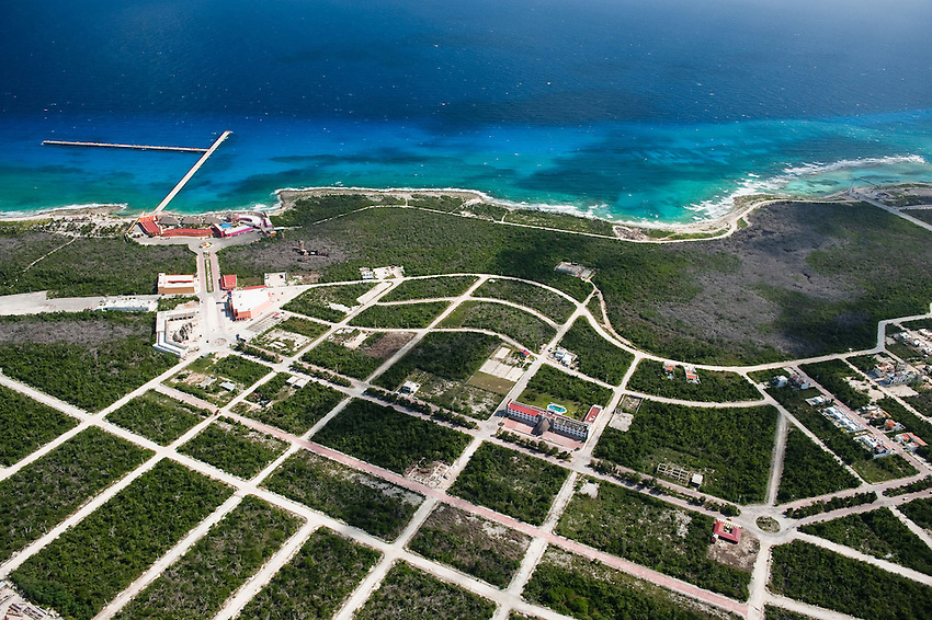 Playa del Carmen. Rapid expansion of this resort town is requiring deforestation of coastal mangrove and forest.
