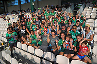 Manawatu women's team and supporters after winning the cup final. Day two of the 2018 Bayleys National Sevens at Rotorua International Stadium in Rotorua, New Zealand on Sunday, 14 January 2018. Photo: Dave Lintott / lintottphoto.co.nz