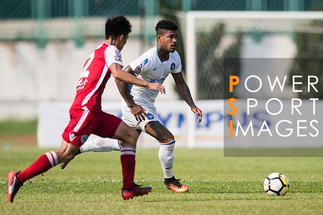 Bruno da Silva Sabino R&F F.C (R) in action during the week three Premier League match between Kwoon Chung Southern and R&F at Aberdeen Sports Ground on September 16, 2017 in Hong Kong, China. Photo by Marcio Rodrigo Machado / Power Sport Images