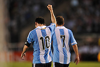 BUENOS AIRES, ARGENTINA, 22 MARÇO 2013 - COPA 2014 - ELIMINATORIAS SUL-AMERICANA - ARGENTINA X VENEZUELA - Lionel Messi jogador da Argentina durante partida contra a Venezuela em partida pela 11 rodada das eliminatórias sul-americana para a Copa do Mundo de 2014 no Estádio Monumental de Núñes em Buenos Aires capital da Argentina, na noite desta sexta-feira, 22. (FOTO: JUANI RONCORONI / BRAZIL PHOTO PRESS).