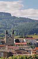 The village with church. Morgon, Beaujolais, France