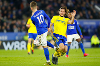 4th March 2020; King Power Stadium, Leicester, Midlands, England; English FA Cup Football, Leicester City versus Birmingham City; Ivan Sunjic of Birmingham City attempts to stop James Maddison of Leicester City