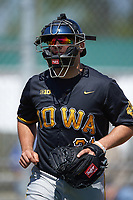 Iowa Hawkeyes catcher Daniel Aaron Moriel (31) during a game against the Dartmouth Big Green on February 27, 2016 at South Charlotte Regional Park in Punta Gorda, Florida.  Iowa defeated Dartmouth 4-1.  (Mike Janes/Four Seam Images)