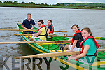 Callinafercy u12 crew take to the water at the Callinafercy regatta at Ballykissane Pier on Sunday l-r: David Lynch cox, Caoimhe Burke, Amanda Flynn, Millie Mason and Caoimhe O'Donoghue