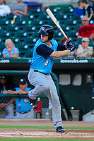 Colorado Springs Sky Sox outfielder Brett Phillips (8) during game two of a Pacific Coast League doubleheader against the Iowa Cubs on August 17, 2017 at Principal Park in Des Moines, Iowa. Iowa defeated Colorado Springs 6-0. (Brad Krause/Krause Sports Photography)