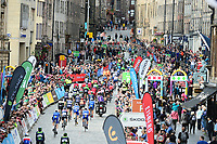 Picture by Simon Wilkinson/SWpix.com 03/09/2017 - Cycling OVO Energy Tour of Britain - Stage 1 Edinburgh to Kelso<br /> Start at Edinburgh and sign on podium