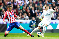 Real Madrid's Lucas Vazquez (r) and Atletico de Madrid's Lucas Hernandez during La Liga match. April 8,2018. (ALTERPHOTOS/Acero) /NortePhoto NORTEPHOTOMEXICO