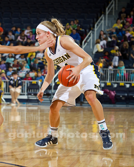 The University of Michigan women's basketball team defeated Illinois State 76-59 at Crisler Arena in Ann Arbor, Mich., on December 22, 2011.