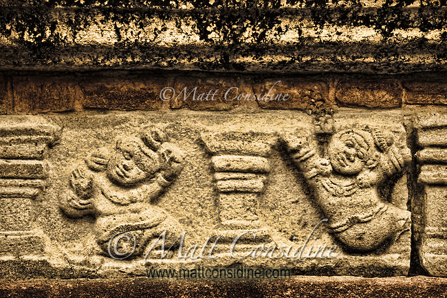 This motif is repeated in numerous places throughout the old city ruins.<br /> (Photo by Matt Considine - Images of Asia Collection)