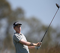 Determination on the face of Kevin Phelan (IRL) as he cards a 69 (-7) during Round Two of The Tshwane Open 2014 at the Els (Copperleaf) Golf Club, City of Tshwane, Pretoria, South Africa. Picture:  David Lloyd / www.golffile.ie
