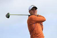 James Yeomans (ENG) on the 14th tee during Round 3 of The Irish Amateur Open Championship in The Royal Dublin Golf Club on Saturday 10th May 2014.<br /> Picture:  Thos Caffrey / www.golffile.ie