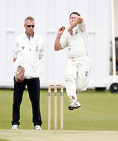 Martin Tucker bowls for Hornsey during the Middlesex County League Division two game between North Middlesex and Hornsey at Park Road, Crouch End on Sat July 9, 2011