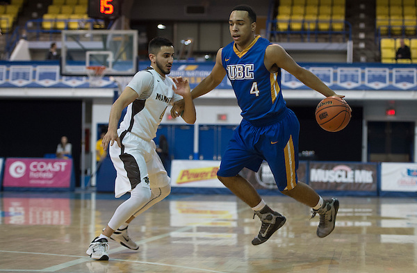 VANCOUVER,BC:NOVEMBER 19, 2016 -- UBC Thunderbirds University of Manitoba Bisons during CIS Canada West action at UBC in Vancouver, BC, November, 19, 2016. (Rich Lam/UBC Athletics Photo) <br /> <br /> ***MANDATORY CREDIT***