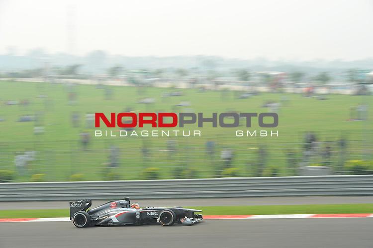 25.-27-10-2013, Jaypee-Circuit, Noida, IND, F1, Grosser Preis von Indien, Noida, im Bild Nico Huelkenberg (GER), Sauber F1 Team <br />  Foto &copy; nph / Mathis
