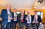 LAUNCHING THE LEGACY: pictured at the launch of the new book on the Healy Rae political legacy are Michael O'Regan, Johnny Healy Rae MCC, Donal Hickey, Danny Healy Rae MCC and Mcihael Healy Rae TD.