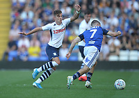Preston North End's Josh Harrop in action with Birmingham City's Dan Crowley <br /> <br /> Photographer Mick Walker/CameraSport<br /> <br /> The EFL Sky Bet Championship - Birmingham City v Preston North End - Saturday 21st September 2019 - St Andrew's - Birmingham<br /> <br /> World Copyright © 2019 CameraSport. All rights reserved. 43 Linden Ave. Countesthorpe. Leicester. England. LE8 5PG - Tel: +44 (0) 116 277 4147 - admin@camerasport.com - www.camerasport.com