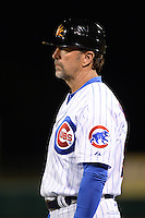 Mesa Solar Sox coach Brian Harper (58), of the Chicago Cubs organization, during an Arizona Fall League game against the Peoria Javelinas on October 17, 2013 at HoHoKam Park in Mesa, Arizona.  Mesa defeated Peoria 6-1.  (Mike Janes/Four Seam Images)
