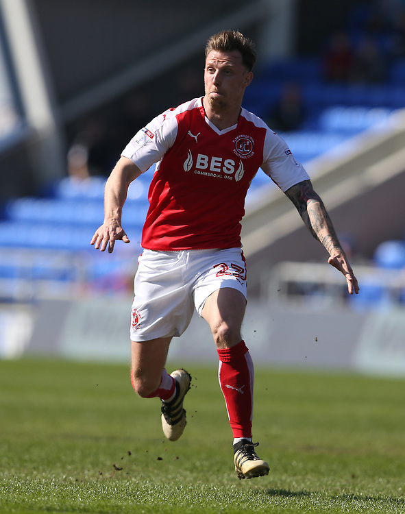 Fleetwood Town's Martyn Woolford<br /> <br /> Photographer Stephen White/CameraSport<br /> <br /> The EFL Sky Bet League One - Oldham Athletic v Fleetwood Town - Saturday 8th April 2017 - SportsDirect.com Park - Oldham<br /> <br /> World Copyright &copy; 2017 CameraSport. All rights reserved. 43 Linden Ave. Countesthorpe. Leicester. England. LE8 5PG - Tel: +44 (0) 116 277 4147 - admin@camerasport.com - www.camerasport.com