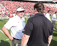 Athens, GA - November 4, 2017: The number 1 ranked University of Georgia Bulldogs host the University of South Carolina Gamecocks at Sanford Stadium.