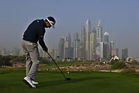 Gonzalo Fdez-Castano (ESP) on the 8th tee during Round 1 of the Omega Dubai Desert Classic, Emirates Golf Club, Dubai,  United Arab Emirates. 24/01/2019<br /> Picture: Golffile | Thos Caffrey<br /> <br /> <br /> All photo usage must carry mandatory copyright credit (&copy; Golffile | Thos Caffrey)