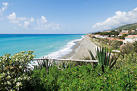 Italy, Calabria, Cittadella del Capo: beach resort, secluded beach at off season