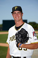 GCL Pirates pitcher Steven Jennings (65) poses for a photo after a game against the GCL Braves on July 26, 2017 at Pirate City in Bradenton, Florida.  GCL Braves defeated the GCL Pirates 12-5.  (Mike Janes/Four Seam Images)