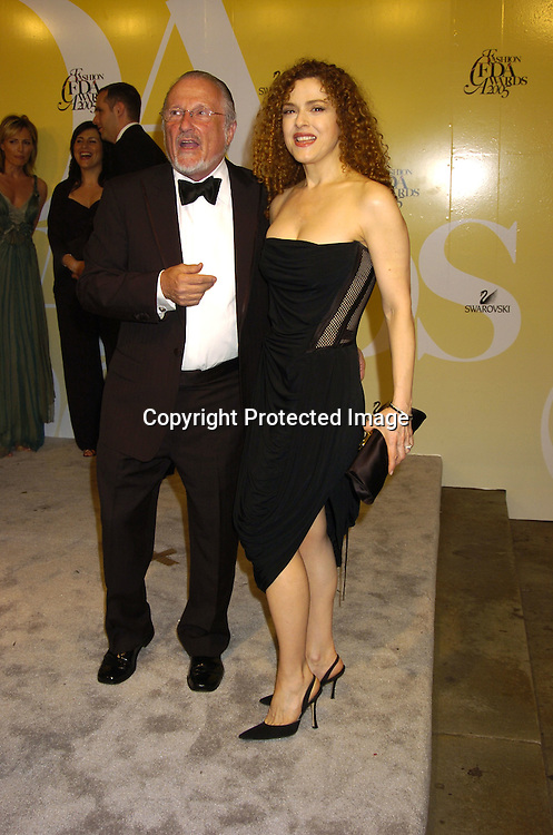 Stan Herman and Bernadette Peters..at the 2005 CFDA Fashion Awards on June 6, 2005 at ..the New York Public Library. ..Photo by Robin Platzer, Twin Images