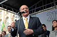 SAO PAULO, 24 DE JULHO DE 2012 - ALCKMIN LEI DE COTAS - Governador Geraldo Alckmin em ato público que celebra os 21 anos da Lei de Cotas, no Pátio do Colégio, regiao central da capital, na manha desta terca feira. FOTO: ALEXANDRE MOREIRA - BRAZIL PHOTO PRESS