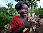 A woman collects firewood in Karonga, a town in northern Malawi.