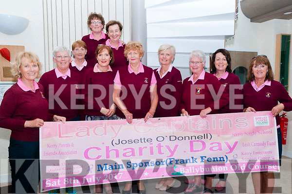 Ballybunion GC Lady Captain Charity Day : Pictured at Ballybunion Golf Club to announce the upcoming Lady Captain's Charity Day to be held on Saturday July 8th on the old course were Josette O'Donnell, Captain, Pudge O'Reilly, Claire Hurley, Catriona  Corrigan, Sighle Henigan, Margaret McAuliffe & Mary O'Donoghue. Back : Nora Quaide, Eileen Kenny-Ryan & Mary Kelly.