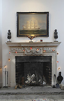 Pic by Si Barber  - 07739 472 922<br /> Creake Abbey in North Norfolk. Image shows - fireplace