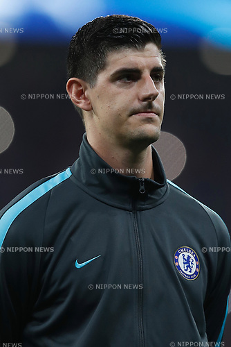Thibaut Courtois (Chelsea), SEPTEMBER 27, 2017 - Football / Soccer : UEFA Champions League Mtchday 2 Group C match between Club Atletico de Madrid 1-2 Chelsea FC at the Estadio Metropolitano in Madrid, Spain. (Photo by Mutsu Kawamori/AFLO) [3604]
