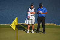 Hideki Matsuyama (JPN) looks over his putt on 11 during day 1 of the WGC Dell Match Play, at the Austin Country Club, Austin, Texas, USA. 3/27/2019.<br /> Picture: Golffile | Ken Murray<br /> <br /> <br /> All photo usage must carry mandatory copyright credit (© Golffile | Ken Murray)