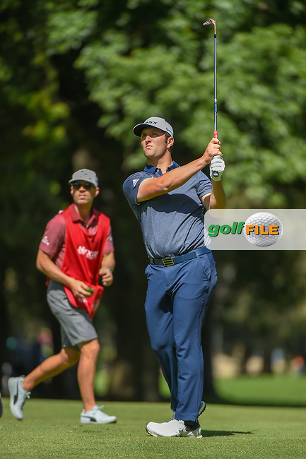 Jon Rahm (ESP) watches his approach shot on 6 during round 1 of the World Golf Championships, Mexico, Club De Golf Chapultepec, Mexico City, Mexico. 2/21/2019.<br /> Picture: Golffile | Ken Murray<br /> <br /> <br /> All photo usage must carry mandatory copyright credit (© Golffile | Ken Murray)
