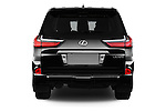 Straight rear view of 2017 Lexus LX 570 5 Door SUV Rear View  stock images
